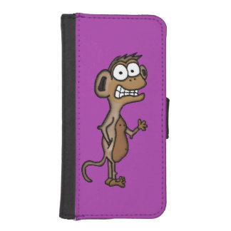 Waving Monkey iPhone 5 Wallet Cases