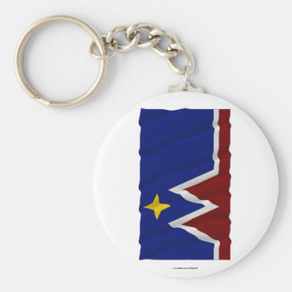 Waving Montana Flag Proposal Keychain