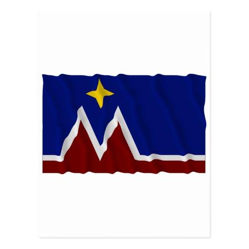 Waving Montana Flag Proposal Post Cards