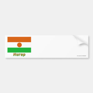 Waving Niger Flag with name in Russian Car Bumper Sticker