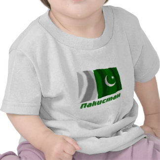 Waving Pakistan Flag with name in Russian Tee Shirts
