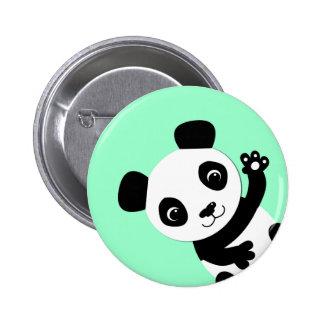 Waving Panda 2 Inch Round Button