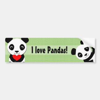 Waving Panda Bumper Sticker