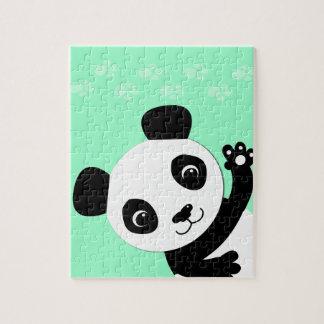 Waving Panda Jigsaw Puzzle
