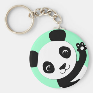 Waving Panda Key Chains