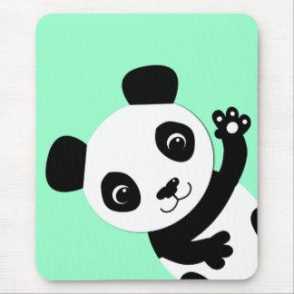 Waving Panda Mouse Pad