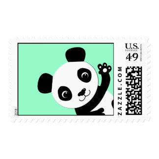 Waving Panda Postage Stamps