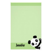 Waving Panda Stationary Stationery