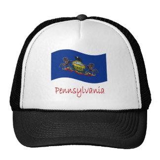 Waving Pennsylvania Flag And Name Trucker Hat