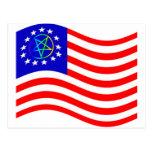 Waving Pentagram Colonies Flag Postcards