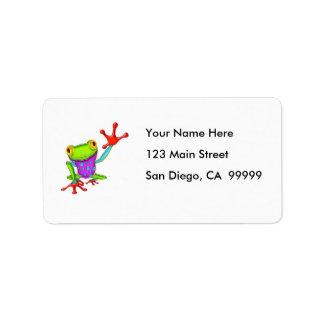 Waving Poison Dart Frog Address Label