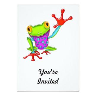 Waving Poison Dart Frog Card