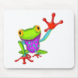 Waving Poison Dart Frog Mouse Pad