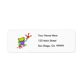 Waving Poison Dart Frog Return Address Label