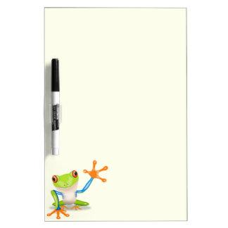 Waving red eyed tree frog illustration Dry-Erase board