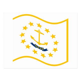 Waving Rhode Island Flag Postcard