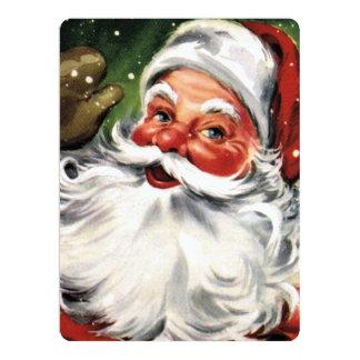 Waving Santa Claus Card