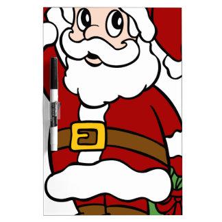 Waving Santa Claus Cartoon Character Dry-Erase Board