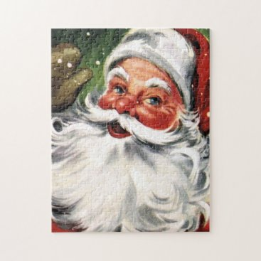 Christmas Themed Waving Santa Claus Jigsaw Puzzle