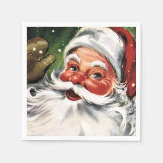 Waving Santa Claus Napkin