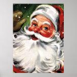 Waving Santa Claus Poster