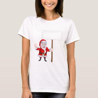 Waving Santa Sign T-Shirt