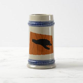 Waving Sea Turtle Nesting Flag Coffee Mug