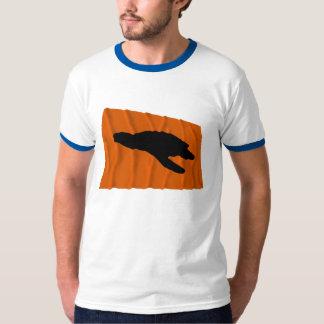 Waving Sea Turtle Nesting Flag T-Shirt