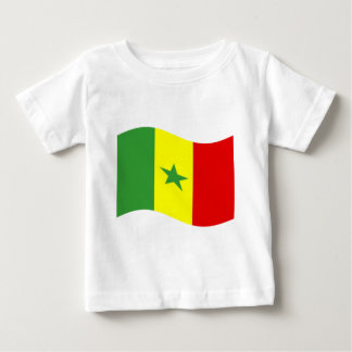 Waving Senegal Flag Baby T-Shirt