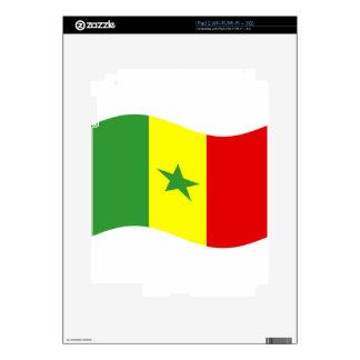 Waving Senegal Flag Decals For iPad 2