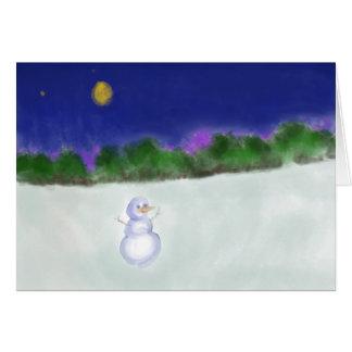 Waving Snowman Card