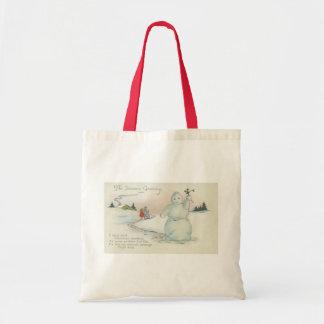 Waving Snowman Christmas Bag