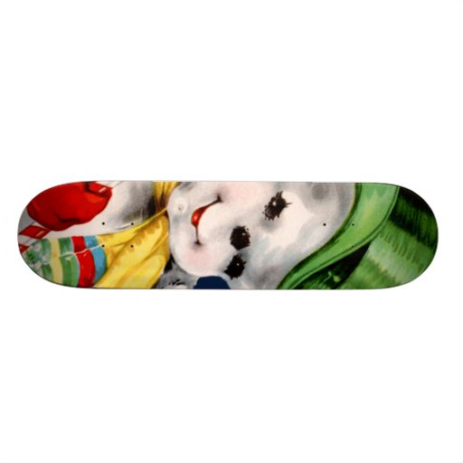 Waving Snowman Skate Decks