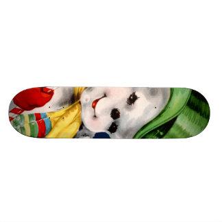 Waving Snowman Skateboard Deck