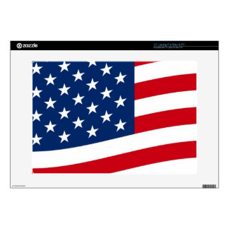 Waving Stars and Stripes Laptop Decals