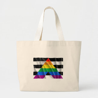 Waving straight ally flag bags