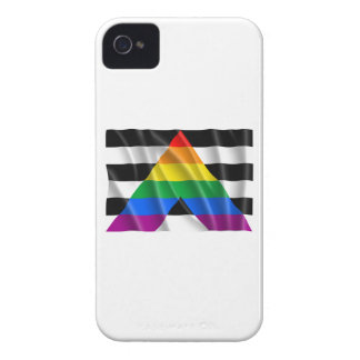Waving straight ally flag iPhone 4 Case-Mate case