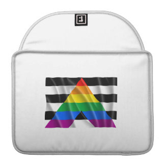 Waving straight ally flag sleeves for MacBook pro