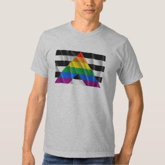 Waving straight ally flag t shirt