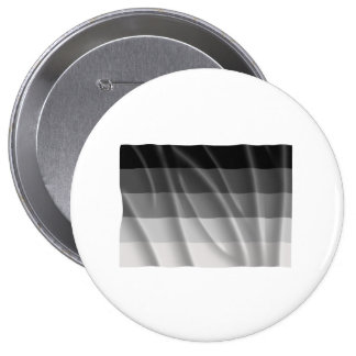 Waving straight pride flag 4 inch round button