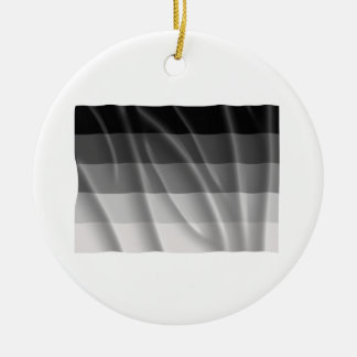 Waving straight pride flag christmas tree ornament