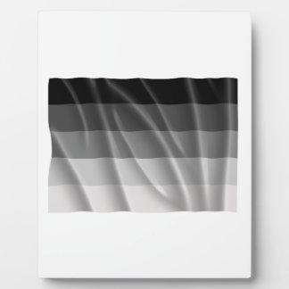 Waving straight pride flag plaques