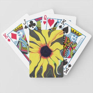Waving Sunflower Bicycle Card Decks