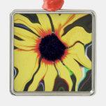 Waving Sunflower Christmas Ornament