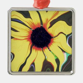 Waving Sunflower Metal Ornament