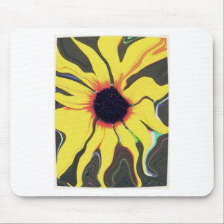 Waving Sunflower Mouse Pad