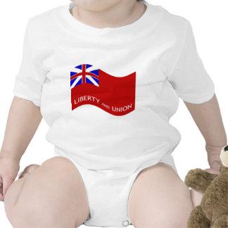 Waving Taunton Flag # 2 Baby Bodysuit