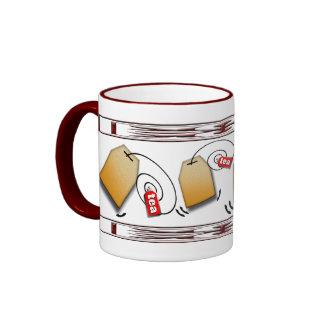 Waving Tea Bags Coffee Mugs