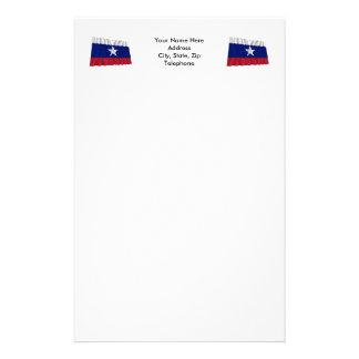 Waving Texas Pilot Flag Stationery