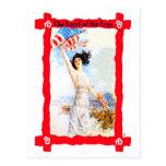 Waving the flag postcard